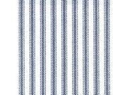 """Ticking 45"""" Wide 100% Cotton 30 Yard Bolt-Navy Stripe"""