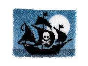 "Wonderart Latch Hook Kit 15""X20""-Pirate Ship"