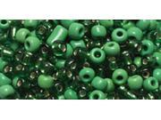 Jewelry Basics Seed Beads-Round Assorted Green