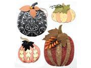 Jolee's Halloween Stickers-Metallic Pumpkins