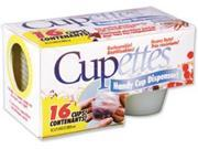 Cupettes Heavy-Duty Cups & Lids 16/Pkg-1.75oz Clear 9SIV06W6CA7244