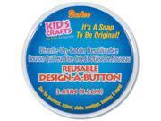 """Design-A-Button 3.625"""" 6/Pkg-Clear"""
