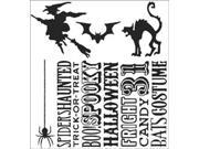 Tim Holtz Cling Rubber Stamp Set-Halloween Silhouettes