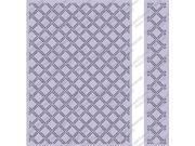 Cuttlebug 5x7 Embossing Folder/Border Set-Wicker Weave