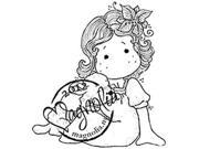 Little Christmas Cling Stamp-Tilda With A Cute Lamb