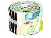 "Fabric Palette Jellies 100% Cotton 2.5""X42"" Cuts 20/Pkg-Zinnia Blue"