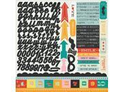 "Hey Kid Cardstock Stickers 12""X12""-Element"