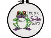 "Learn-A-Craft First One To Smile Counted Cross Stitch Kit-6"" Round"