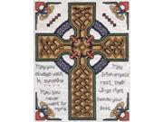 "Celtic Cross Counted Cross Stitch Kit-8""""X10"""" 14 Count"" 9SIV01U7309682"
