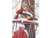 "Cardinals On Sled Counted Cross Stitch Kit-10""X14"""