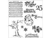 Tim Holtz Cling Rubber Stamp Set-Mini Holidays 3