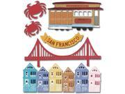 Jolee's Boutique Dimensional Destination Sticker-San Francisco