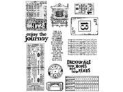 Tim Holtz Large Cling Rubber Stamp Set-Going Somewhere
