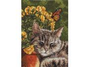 """Heirloom Collection Afternoon Nap Counted Cross Stitch Kit-5""""X7"""" 18 Count"""