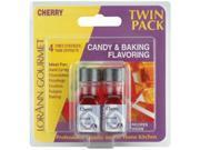 Candy & Baking Flavoring .125 Ounce Bottle 2/Pkg-Cherry