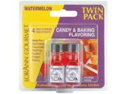 Candy & Baking Flavoring .125 Ounce Bottle 2/Pkg-Watermelon