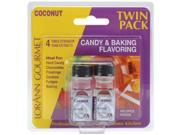 Candy & Baking Flavoring .125 Ounce Bottle 2/Pkg-Coconut