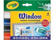 Crayola Washable Window Mega Markers-4/Pkg