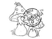 Sweet Rainbow Cling Stamp-Mushrooms With Snail