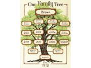 "Our Family-Family Tree Counted Cross Stitch Kit-9""X12"" 14 Count"