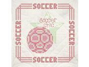 """Stamped Quilt Blocks 18""""X18"""" 6/Pkg-Soccer"""