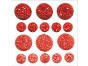 Sparklets Self-Adhesive Rhinestone Clusters-Rouge