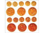 Sparklets Self-Adhesive Rhinestone Clusters-Saffron