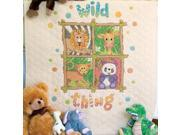 """Baby Hugs Wild Thing Quilt Stamped Cross Stitch Kit-34""""x43"""""""