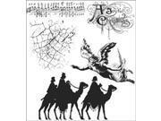 Tim Holtz Cling Rubber Stamp Set-Joyful Song