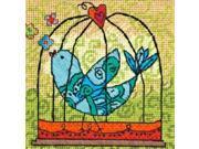 "5""X5"" Stitched In Thread Birdie Needlepoint Kit Dimensions 71-07235"