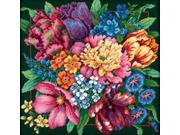 "Floral Splendor Needlepoint Kit-14""X14"" Stitched In Yarn"