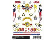 """Pine Car Derby Dry Transfer Decal 4""""X5"""" Sheet-Freedom Forever"""