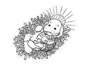 Nativity Cling Stamp-Little Holy Baby