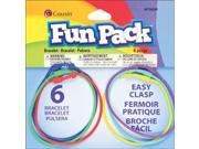 Fun Pack Easy Clasp Rubber Bracelets 6/Pkg-Multicolor