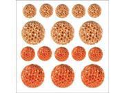 Sparklets Self-Adhesive Rhinestone Clusters-Coral