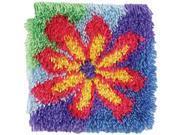"Shaggy Latch Hook Kit 12""X12"" -Flower Power"