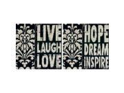 "Words To Inspire Counted Cross Stitch Kit-8""X8"" 14 Count"