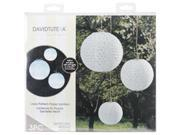 """Lace Look Paper Lanterns 3/Pkg-White 6""""&#59; 8"""" And 10"""""""