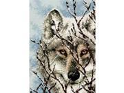 """Gold Collection Petite Wolf Counted Cross Stitch Kit-5""""X7"""" 18 Count"""