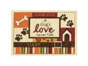 """A Dog's Love Mini Counted Cross Stitch Kit-5""""""""X7"""""""" 14 Count"""" 9SIA14P0S00709"""