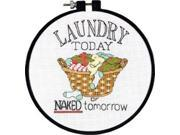 """Learn-A-Craft Laundry Today Counted Cross Stitch Kit-6"""""""" Round 14 Count"""" 9SIV01U6Y68429"""