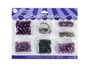 Bead Wardrobe Collection Beads-Purple Assorted