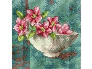 "Dogwood Blossom Mini Needlepoint Kit-5""""X5"""" Stitched In Thread"" 9SIA46Y3ZW2564"