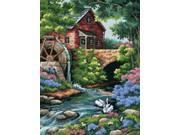 "Old Mill Cottage Needlepoint Kit-12""""X16"""" Stitched In Thread"" 9SIA00Y4390679"