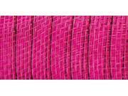 """Mesh Metallic Ribbon 6"""" Wide-Hot Pink"""