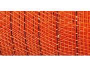"Mesh Metallic Ribbon 6"" Wide-Orange"