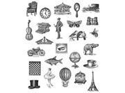 Tim Holtz Large Cling Rubber Stamp Set-Tiny Things