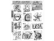 Tim Holtz Cling Rubber Stamp Set-Mini Blueprints