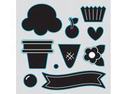 Sizzix Framelits Dies 10/Pkg With Clear Stamps By Doodlebug-Sweet Treats