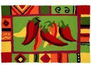 Red Hot Chili Peppers Fiesta Fun Jellybean Accent Area Rug